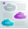 Glass clouds set with place for text vector image