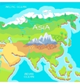Asia Isometric Map with Natural Attractions vector image