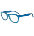 Blu glasses vector image