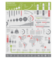 environmental problems infographic elements vector image