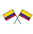 flag of colombia stylization of national banner vector image