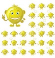 golden smileys set vector image