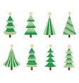 green christmas trees vector image