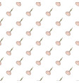 Hand drawn seamless pattern with garlic on white vector image