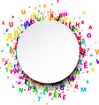 Round background with letters vector image