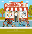 toy shop flat background vector image