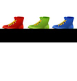Different colors of shoes vector image