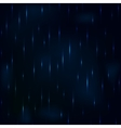 Dribble rain at night dark blue foggy sky vector image