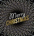 Merry Christmas abstract mandala design in gold vector image vector image