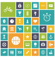 Flat design icons for travel sport and leisure vector image