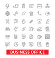 business office web interface email calendar vector image