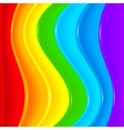 Bright rainbow plastic waves background vector image