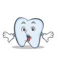 surprised tooth character cartoon style vector image
