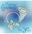 Christmas horn decoration vector image vector image