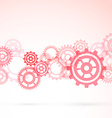 Red gear modeling background template vector image