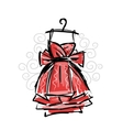 Dress on hangers sketch for your design vector image vector image