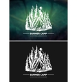 Vintage summer outdoor hiking and camping retro vector image vector image