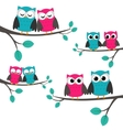 owls couples set vector image