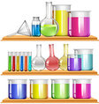 Lab equipment filled with chemical vector image