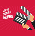 cinema lights camera action flat vector image