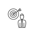 employee business target icon vector image