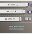 freight transportation info vector image