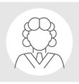 Judge avatar line icon vector image