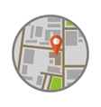 Location flat icon vector image