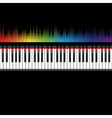 Piano keyboard with equaliser vector image