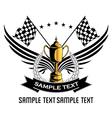 Race emblem vector image