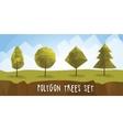 Set geometric polygonal trees with vector image
