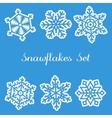 Snawflakes Set vector image