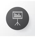 statistics and management icon symbol premium vector image