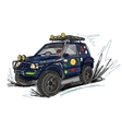 Tuned jeep sketch for your design vector image