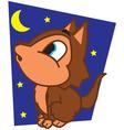 Wolf at Night vector image
