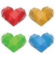 Polygonal Hearts Set3 vector image vector image