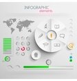 set of abstract 3d paper infographic elements with vector image