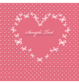 pink valentines day card with vector image vector image