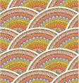 Colorful Seamless Hand-Drawn Pattern Waves vector image