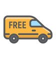 delivery van filled outline icon delivery vector image