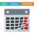 Flat design icon of calendar vector image