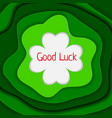 good luck background vector image