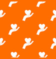 hand holding heart pattern seamless vector image