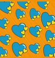 love cute pop art vector image