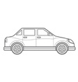 outline saloon car body style icon vector image