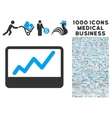 Stock Market Icon with 1000 Medical Business vector image