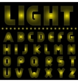 Yellow light alphabet vector image