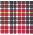 Red and gray check flanel plaid seamless vector image