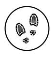 Man footprint icon vector image vector image