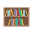 book shelf icon vector image